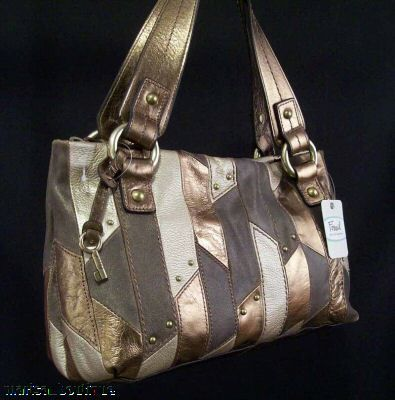 ChasedSilverFossilBag