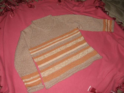 My Knitting V Neck Striped 036 (1) +